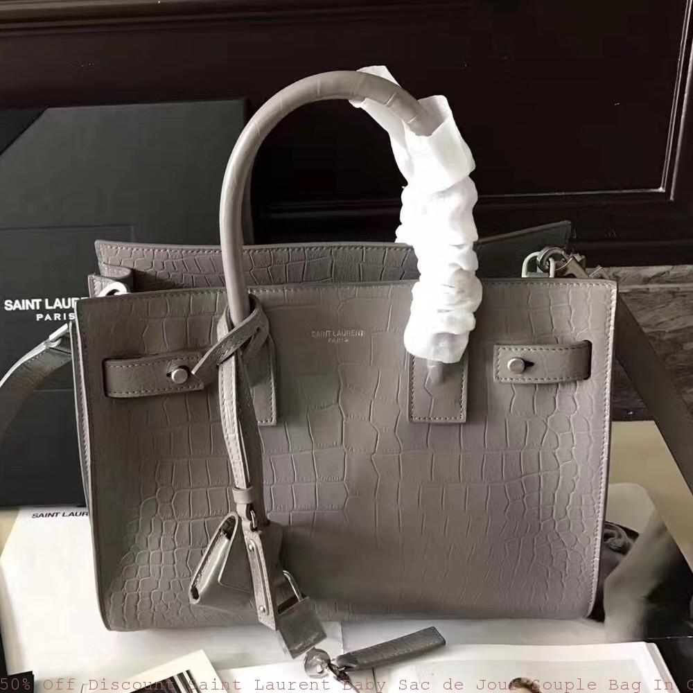 678a34d7a8a 50% Off Discount Saint Laurent Baby Sac de Jour Souple Bag In Grey ...