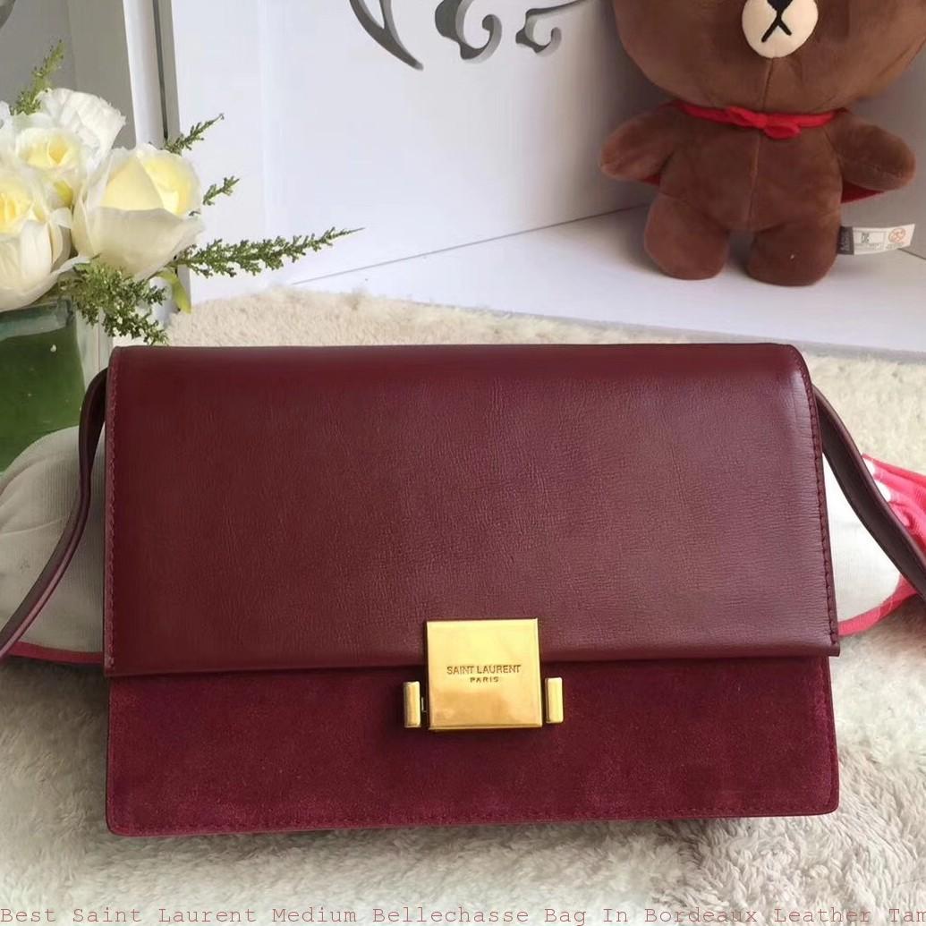 Best Saint Laurent Medium Bellechasse Bag In Bordeaux Leather Tampa ... e0d314e0e6702