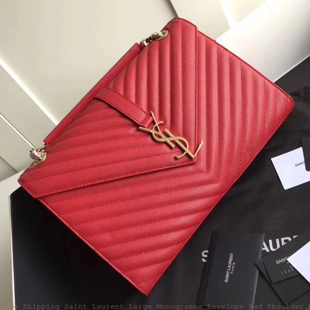 Free Shipping Saint Laurent Large Monogramme Envelope Red
