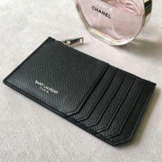 detailed pictures 0a4be 27738 Highest Quality Saint Laurent Black 5 Fragments Zip Pouch Card Holder  Columbus, OHCorpus Christi, TX - ysl tassel bag ebay - 1571