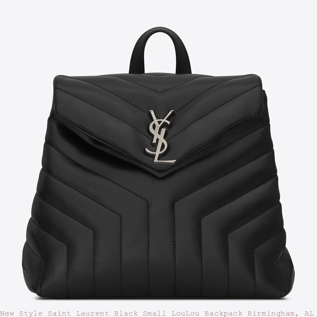 New Style Saint Laurent Black Small Loulou Backpack